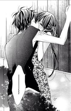 Image via We Heart It #anime&manga #couple #kawaii #kiss #wait #crayondays #cute #love