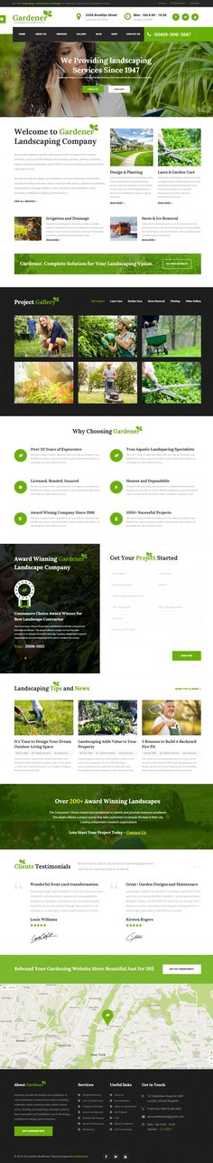 Gardener – Gardening, Lawn Landscaping HTML Template build for Lawn Services Business, Landscaping Companies, #Groundskeepers, Landscape Architects, Gardening Business, Florists, firewood, flowers, ecology, landscape, lawn, lumberjack, Big or Small #Gardener Business, #Agriculture and companies that offer related services Website. #HTMLTemplate