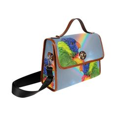 Rainbow Lorikeet Waterproof Canvas Bag/All Over Print. FREE Shipping. FREE Returns. #bags #parrots