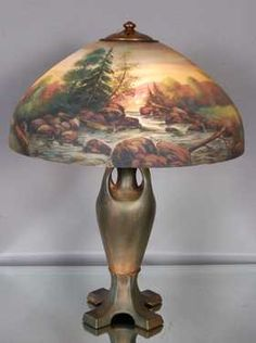 See 561 prices and auction results for Spring Antique Estate Auction on Sun, Apr 2012 by Bruhn's Auction Gallery in CO Recover Lamp Shades, Painting Lamps, Paint Shades, Tiffany Lamps, Antique Lighting, Spring, Porcelain Lamps, Painted Lamp, Night Shades