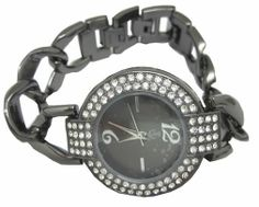 A classy, this black colored analog #watch from Tropez is every woman's best friend!