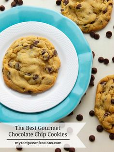 The Best Gourmet Chocolate Chip Cookies. Who doesn't love chocolate chip cookies? You might find it funny how many chocolate chip cookie recipes I have tried over the years. I finally found the perfect recipe! These cookies soft and chewy and the flavor is seriously mind blowing! Don't spend all that money on the expensive bakery cookies when you can make your own at home for a lot less!