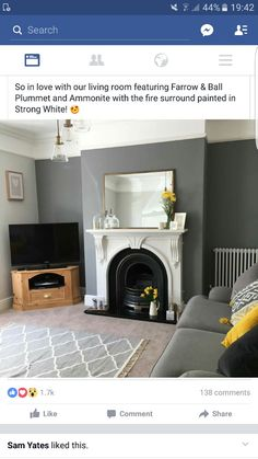 Newest Pics Fireplace Remodel gray Popular A characterful fireplace is such a nice centrepiece to a living room Living Room Lounge, Living Room Grey, Home Living Room, Living Room Decor, Dining Room, Style At Home, Interior Design Living Room, Living Room Designs, Victorian Living Room