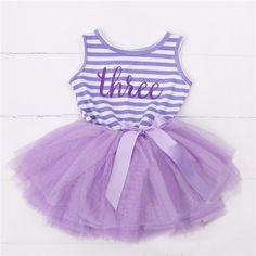 Third Birthday Sleeveless Tutu Dress
