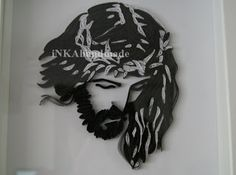 """Jesus Christ is the most difficult (so far) quillingowe """"work """" that I created . I was looking for an idea for a gift for friends and found inspiration on the page with patterns for embroidery http://www.coricamo.pl/product,2372,wzor-graficzny.htm . Later, by chance I found a fantastic site of the Croatian artist Gordana Mudri ( http://quilledpaperparadise.blogspot.com/ ) , who performed the same Jesus quillingu technique , which definitely helped me the realization of my idea. Execution of…"""