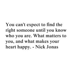 Oh Nick. So wise