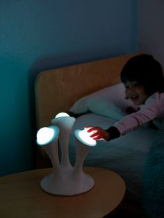 Boon Glo Nightlight - Kids will never be afraid of the dark again with the Boon Glo Nightlight with portable Glo balls. GetdatGadget.com