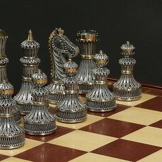 Brand New Limited Edition Sterling Silver Gold Guild Chess Set Filigree Amazing Made in Russia Woodworking Jigs, Woodworking Projects, Wood Router, Cnc Router, Wood Lathe, Quilling 3d, Quilled Roses, Quilling Patterns, Chess Set Unique