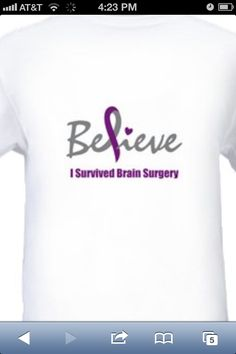 The shirt I made for my decompression Chiari Brain Surgery.