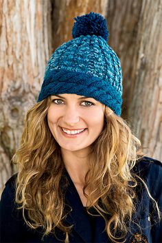 Ravelry: On the Slopes Hat pattern by Marie Segares