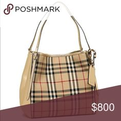 f8fb4cc1dbe Burberry Check Leather Hobo Authentic Burberry bag with leather. Signature  check pattern. Gently used