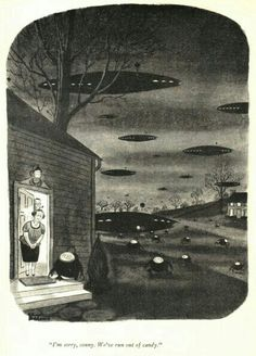 Charles Addams: I'm sorry Sonny, We've run out of candy. Original Addams Family, Addams Family Cartoon, Addams Family Quotes, Addams Family Tv Show, New Yorker Covers, The New Yorker, Old School Cartoons, Cool Cartoons, Scary Art