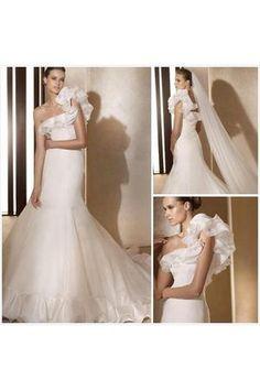 Vestido de noiva Sem cintura Cauda Médio Com Franzido Tafetá