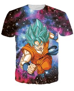 Dragon Ball Z Japanese 3D Short Sleeve Anime T-Shirt V3