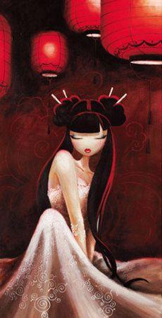Misstigri Posters, Prints, Paintings & Wall Art for Sale Illustrations, Illustration Art, Art Chinois, Geisha Art, Arte Pop, Chinese Art, Japanese Art, Rock Art, Asian Art