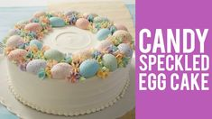 speckled cake How to make an Easter Egg Cake with candy speckled eggs using Wilton decorating suppli Easter Egg Moulds, Easter Egg Cake, Cake Borders, Spring Treats, Speckled Eggs, Frosting Techniques, Cake Youtube, Candy Melts, Easter Brunch