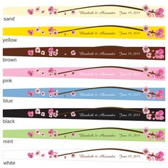 Cherry Blossom Personalized Paper Hand Fans