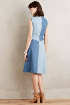 Pieced Denim Dress - anthropologie.com