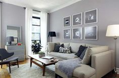 Living room color schemes cream couch grey walls cream couch no blues more wood and gold Grey Walls Living Room, Living Room Color Schemes, Living Room Paint, Home Living Room, Living Room Decor, Gray Interior, Interior Design Living Room, Living Room Designs, Inspiration Design