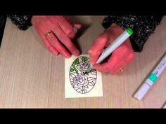 Copics/Micro Glitter and Peel Off Stickers Elizabeth Craft Designs
