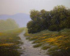 """Santa Ynez Morning"" Ron Guthrie Original Oil Painting www.guthrieart.com http://www.guthrieart.blogspot.com/"