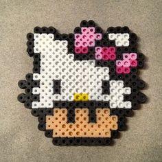 Hello Kitty Mushroom perler beads by theprinceofperler