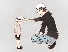 Young Trafalgar D. Water Law One piece art gray Hes Mine, One Peace, Anime Family, One Piece Pictures, Trafalgar Law, Snow Leopard, Pirates, Childhood, Fan Art
