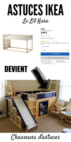ikea hack for a toddler bunk bed kura plus trofast super cool idea saving this for my kids. Black Bedroom Furniture Sets. Home Design Ideas