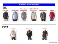 business casual dos and donts for mens attire