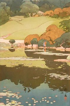 beautiful wood-block prints by hiroshi yoshida 24 - - Japon Illustration, Landscape Illustration, Botanical Illustration, Landscape Drawings, Landscape Art, Japanese Prints, Japanese Art, Hiroshi Yoshida, Environmental Art