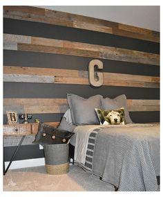 Accent Wall Bedroom, Boys Bedroom Decor, Girls Bedroom, Teen Boy Bedrooms, Ideas For Boys Bedrooms, Boys Room Paint Ideas, Accent Walls, Boys Bed Room Ideas, Wood Wall In Bedroom