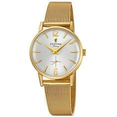 Festina Extra 1948 Vintage Style Gold Tone Expanding Bracelet Watch for sale online Gold And Silver Watch, Gold Gold, Gold Watch, Mesh Bracelet, Bracelet Watch, Color Dorado, Gold Plated Bracelets, Audemars Piguet, 316l Stainless Steel