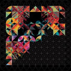 Another illustration by Andy Gilmore. The geometry of music applied to illustration. Creative Inspiration, Color Inspiration, Abstract Pattern, Art Images, New Art, Design Art, Modern Art, Graphic Art, Art Projects