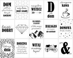 Plakaty+do+druku+z+polskimi+napisami+–+DOM Back To School, Invitations, Words, Bujo, Sweet, Decor, Poster, Candy, Decoration