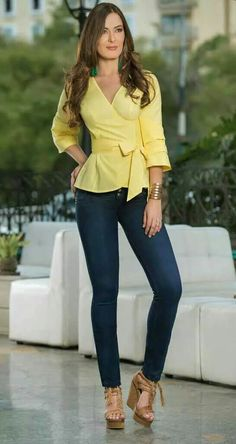 Blue Jeans, Peplum, Outfits, Heels, Womens Fashion, Casual, Dresses, Spring Summer, Work Wear