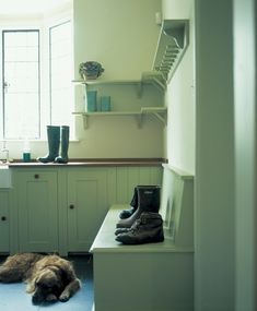 Country Boot Room - OK, but not for me...  I'd use these ideas in my kitchen.
