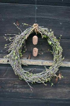 rustic winter wreath barn wedding rustic event