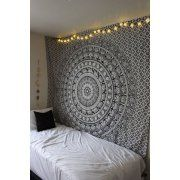 Black & White Elephant Mandala Hippie Tapestry Twin Indian Throw Beach College Dorm Bohemian Wall Hanging Boho Bedsheet By Rajrang