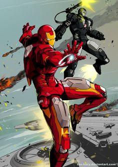 Iron Man & War Machine // artwork by Hary Istiyoso Marvel Comics, Marvel Heroes, Anime Comics, Marvel Avengers, Iron Man Kunst, Iron Man Art, Comic Sans, Marvel Characters, Comic Book Characters