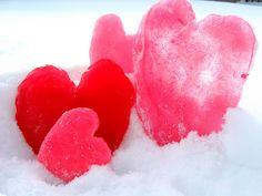 Yard Decor - Colored Ice hearts