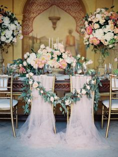 View entire slideshow: Sweetest Sweetheart Chairs on http://www.stylemepretty.com/collection/2064/