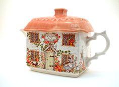 Vintage Teapot  Cottage Sadler English China by theARTfulBlackBird