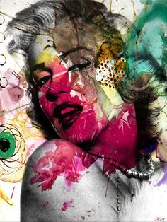 Trademark Art Marilyn Monroe II by Mark Ashkenazi Graphic Art on Wrapped Canvas Size: Marilyn Pop Art, Canvas Wall Art, Canvas Prints, Art Prints, Framed Prints, Marilyn Monroe Kunst, Marylin Monroe, Tableau Pop Art, Art Vintage