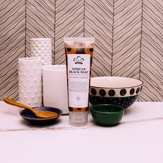 Give acne the punch! Exfoliating is key to fight blemishes and clogged pores. Our African Black Soap Facial Wash & Scrub to naturally exfoliate and remove bacteria, excess and impurities. African Black Soap, Facial Wash, Clogged Pores, Skin Care Regimen, Shea Butter, Punch, Alcoholic Punch