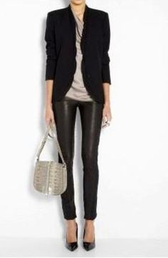 Erin_ Leather pant/ leggings with blazer