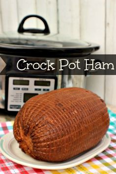 This Crock Pot Ham Recipe will make dinner plans quick and easy!