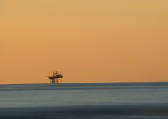 Oil Platform off the Formby Beach Coast