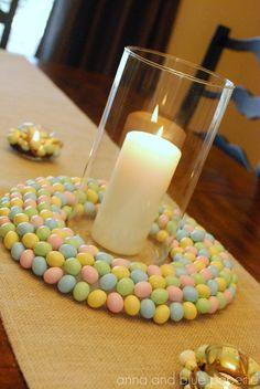 {diy Tutorial} Spring Candy Table Decor idea