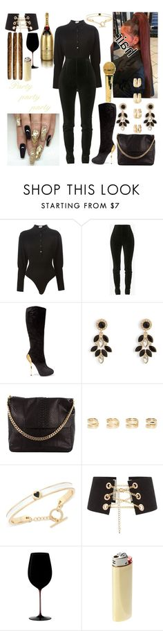 """Christmas Party"" by sheismisslewis ❤ liked on Polyvore featuring Alaïa, Balmain, Giuseppe Zanotti, Vera Bradley, CÉLINE, Maison Margiela, BCBGeneration, MoÃ«t & Chandon, Riedel and Vetements"