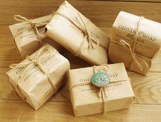 Стильные посылочки с ароматным мылом от oliva.co.ua